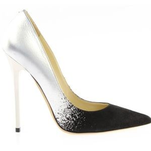Jimmy Choo Black /Silver Dégradé Anouk Pumps w/box